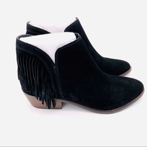 ♥️ NWT! LUCKY BRAND SUEDE FRINGE BOOTIES.